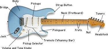 Guideline for selecting the size of a guitar